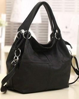 Metal Loop Enhanced Hobo Bag
