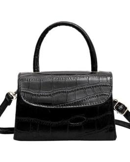 Retro Simple Crocodile Tattoo Shoulder Strap Small Square Bag Handbag