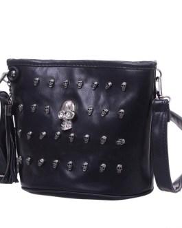 Skull Design Satchel Clutch Crossbody Bag