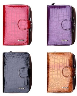 Alligator Pattern Leather Travel Card Organizer Case Small Bag