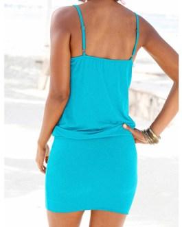 Blouson Style Mini Dress – Sleeveless