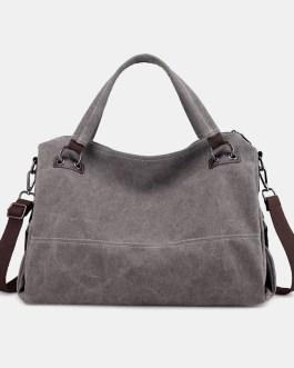 Casual Canvas Multi-carry Handbag Crossbody Bag