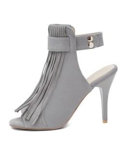 Gladiator Sexy Peep Toe Slingback Tassel Sandals