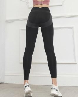 High Waist Solid Color Yoga Pants