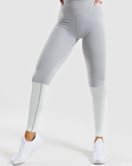 Outdoors Running Contrast Color High Waisted Leggings