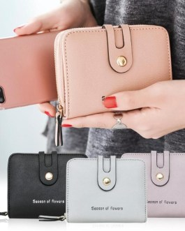 PU Leather Card Holder passport cover Letter Bifold Wallet