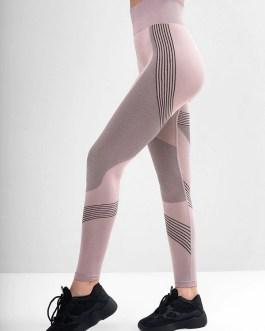 Running Contrast Color High Waist Yoga Leggings