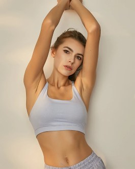 Soft Nylon Push Up Workout Gym Yoga Bras