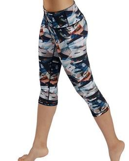 Sports Printed High Waist Capri Leggings