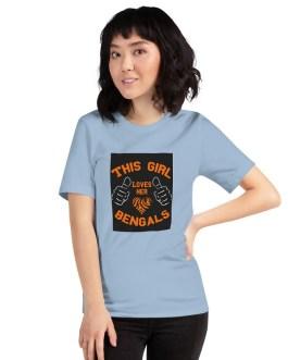 This Girl Loves Her Bengals Dark Back Unisex Premium T-Shirt