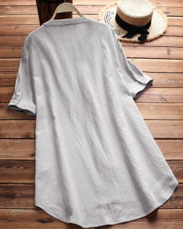 Vintage O-neck Printed Daily Casual T-shirts