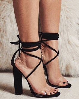 5″ Chunky Heels – Simple Wrapped Strap Design
