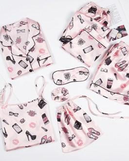 Sexy Long Sleeve Cute Pattern Sleepwear