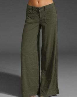 Casual Cotton Long Solid Plain Harem Pants