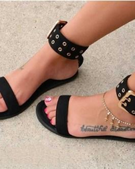 Clear Minimalist Sandals – Flat Soles
