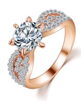 Fashion Crystal Rings Big Cubic Zircon Wedding Ring