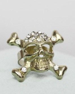 Gold Pirate Skull Pattern Rings