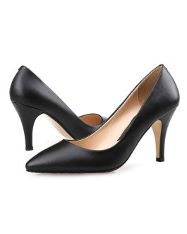 Pointed Toe Stiletto Heel Slip On Pumps High Heels