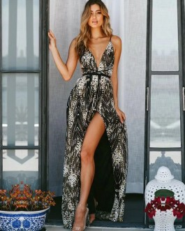 Sexy Backless Evening Party Dress