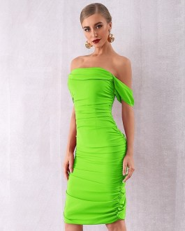 Sexy Draped Off The Shoulder Party Dress