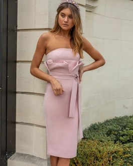 Sexy Strapless Sashes Evening Party Dress