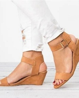 Wedge Style Sandals – Open Heels and Toes