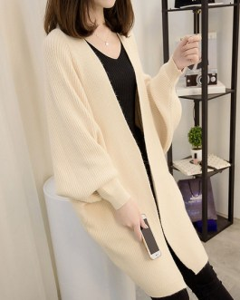 Classic Sweaters Batwing Long Sleeve Knitted Cardigans