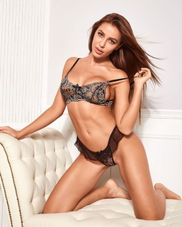 Sexy Bra And Panty Printed Lace Up Two Piece Set Lingerie