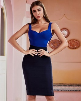 Sexy Hollow Out Spaghetti Strap Club Celebrity Party Bandage Dress