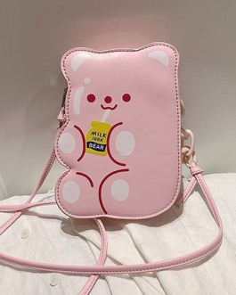 Sweet Lolita Bag Bear PU Leather Cross Body Bag