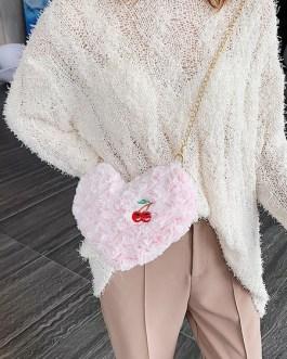 Sweet Lolita Hearts Shaped Cherry Cross Body Bag
