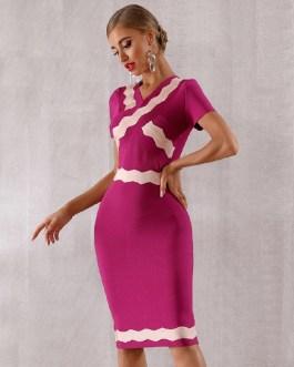 Sexy Short Sleeve Runway Celebrity Evening Party Dress