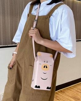 Sweet Lolita Milk Box PU Leather Cross Body Bag