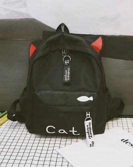 Sweet Lolita Polyester Handbag Bunny Ear Backpack