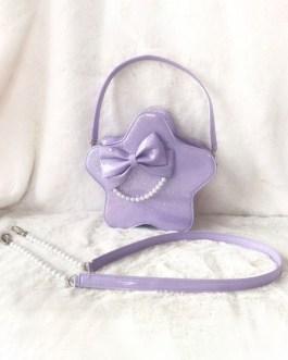 Sweet Lolita Starfish PU Leather Pearls Cross Body Bag