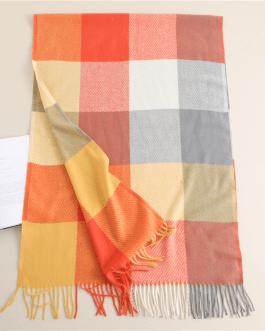 Fashion luxury warm plaid scarf