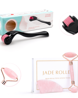 Jade Roller Jade Stone with derma roller 0.3mm