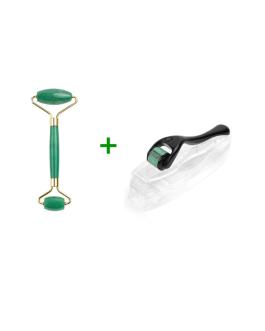 Jade Roller with derma roller 0.3mm