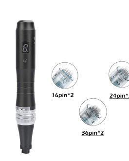 Microneedle Pen Therapy bb glow Beauty Machine Digital Display with 6pcs Cartridges Needles