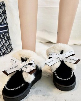 Ankle Micro Suede Upper Round Toe Snow Boot