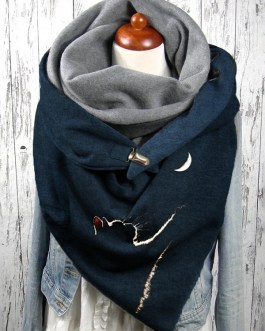 Cats Pattern Soft Personality Neck Protection Keep Warm Scarf