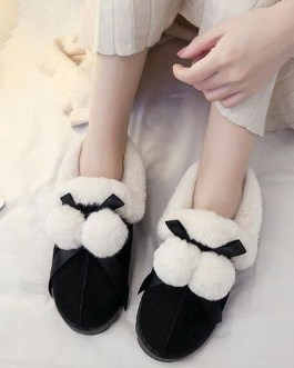 Loafers Micro Suede Upper Round Toe Casual Cotton Shoes