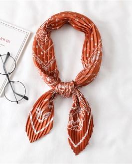 Silk Scarf Crinkle Hair Band Scarves