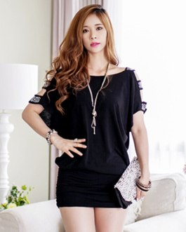 Strapless Solid Color Slim Loose Package Hip Mini Dress