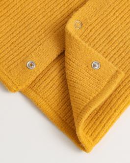 Unisex Ring Scarf Warm Collar Button Neck Scarves