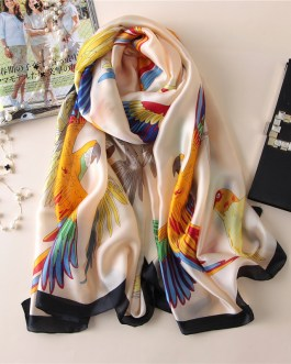 luxury brand soft and large size silk scarves