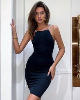 Sexy Spaghetti Strap Club Mini Hot Celebrity Runway Party Dress