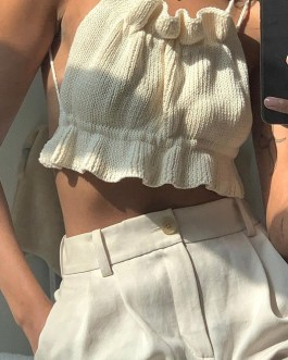 Sexy ruffled casual camis