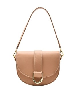 Korea Solid Saddle Shoulder Bags