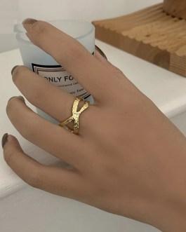 Cross Hollow Texture Ring Fashion Unique Design Handmade